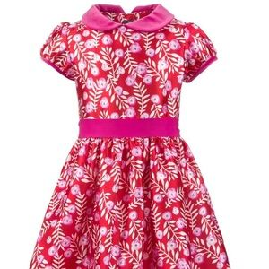 Girls Silk Blend Dress.